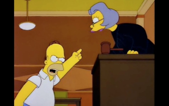 Homer in court