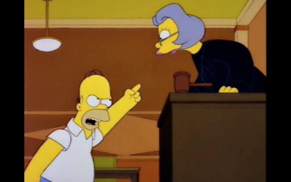 Homer in court