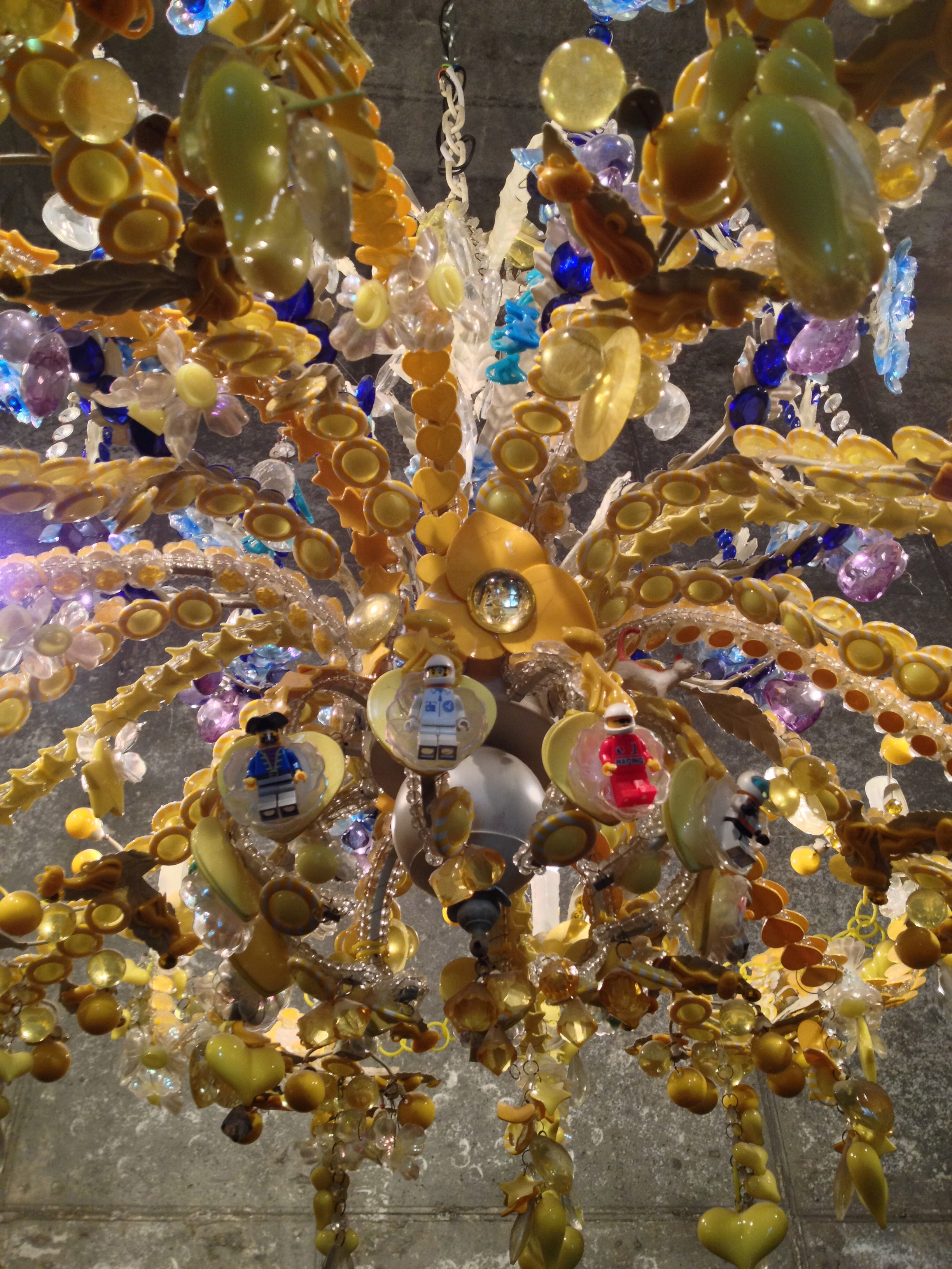 Food art and fashion of Seoul – Paper Mache Chandelier